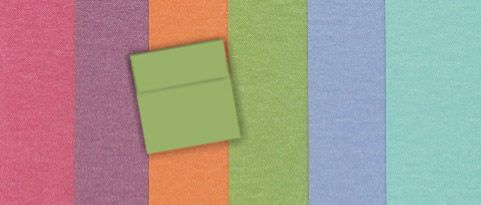 Colored Square Envelope