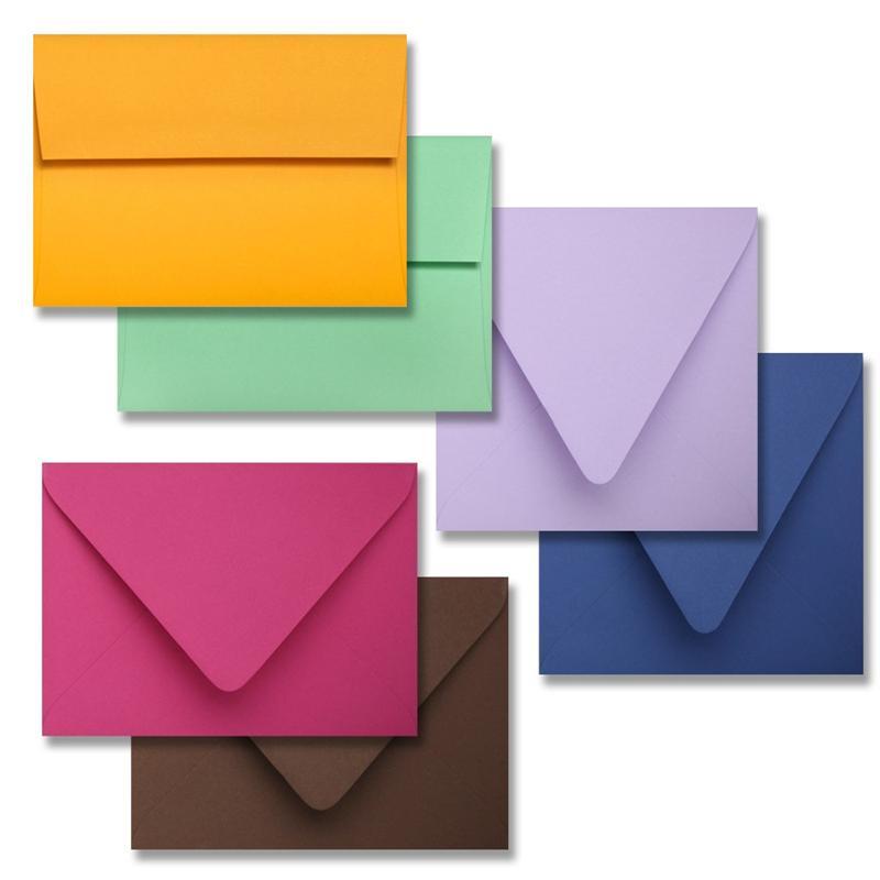 colorplan a1 envelopes 3 5 8 x 5 1 8 different colors 91 square