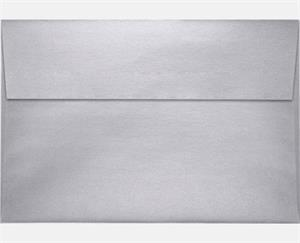 A10 Invitation Envelopes (6 x 9.5) LUXPaper — Silver Metallic  80lbs peel and press