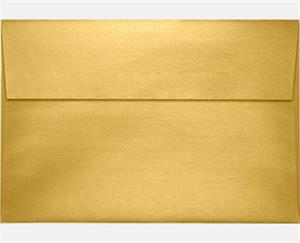 A10 Invitation Envelopes 6 x 9.5  gold metallic 80lbs peel and press