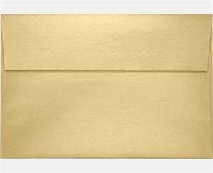 A10 Invitation Envelopes 6 x 9.5 Blonde Metallic  80lbs peel and press