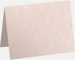 A6 Folded Card Coral Metallic - Stardream® 105lbs