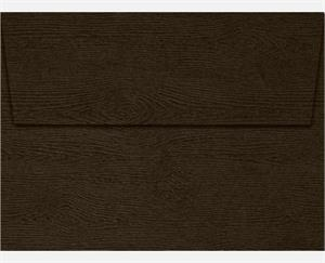 A6 Invitation Envelopes (4.75 x 6.5) LUXPaper Teak Woodgrain 68lbs peel and press
