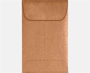 #1 Coin Envelopes (2.25 x 3.5) Copper Metallic 80lbs moistenable glue