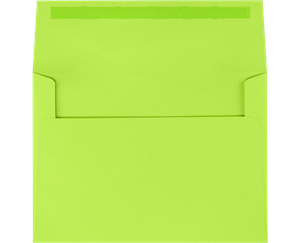 A2 Invitation Envelopes (4.375 x 5.75) Electric Green  Moistenable Glue 60lbs