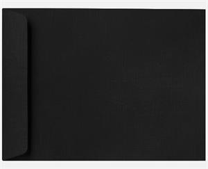 10 x 13 Open End Envelopes LUXPaper — Black Linen Peel and Press 80lbs