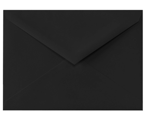 4 BAR Envelopes (3 5/8 x 5 1/8) Midnight Black 80lbs Moistenable Glue