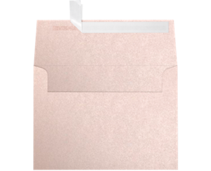 A7 Invitation Envelopes 5.25 x 7.25 Coral Metallic - Stardream® 81lbs Peel and seal