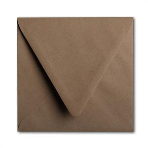 "Brown Bag Envelopes - KRAFT -6 1/2"" square Euro Flap"