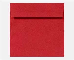 3 1/4 x 3 1/4 Square LUXPaper — RED Peel & Press™ 80#