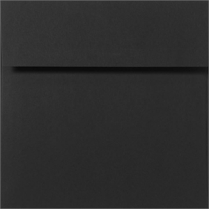 BLACK LINEN 5.25 Square Envelopes 80lbs Peel and Press