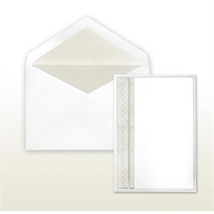 Pearl Multi-Stamped Embossed Side Panel White Cabinet of 50 Invitations Set