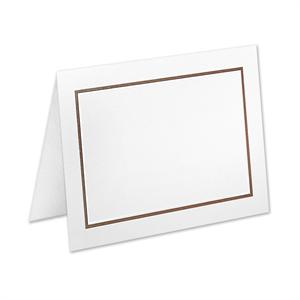 4Bar White Adelaide folder w/Chocolate border card set