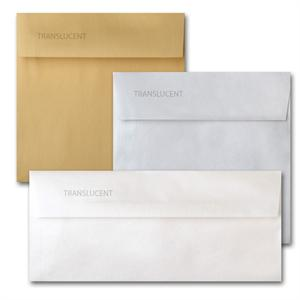 "Curious Translucents Envelopes A2 (4 3/8"" x 5 3/4"" ) 27# Writing"