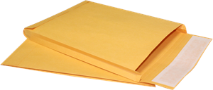 12 x 15 x 3 Expansion Envelopes 40lb. Brown Kraft zip stick