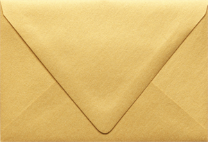 A4 Contour Flap (4 1/4 x 6 1/4) Metallic Envelopes comes in 4 Colors 80lbs