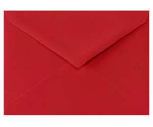 4 BAR Envelopes (3 5/8 x 5 1/8) Ruby Red 80lbs Moistenable Glue