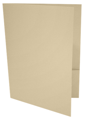 9 x 12 Presentation Folders - Standard Two Pocket Nude
