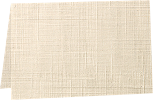 A1 Folded Card (3 1/2 x 4 7/8) Natural Linen 100#