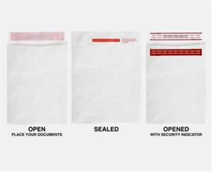 10 x 13 Open End Envelopes 5 color of  Tyvek 14lbs box of 100 Self Seal
