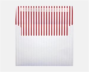 A7 Printeriors (5 1/4 x 7 1/4) LUXPaper — Red Lines Peel and Press 70lbs