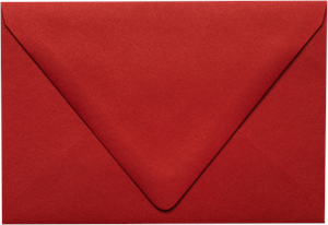 A4 Contour Flap (4 1/4 x 6 1/4) Envelope Ruby Red & Midnight Black 80lbs