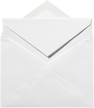 4 3/4 x 6 1/2 Outer Envelopes 70lb. Bright White Moistenable Glue
