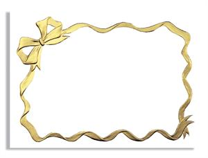 Bow,Gold Foil A-7 White Vellum Card box of 250 XB5917