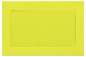 6 x 9 Full Face Window Envelopes 80# Comes in Different Color