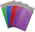 Color Bubble Mailers self-seal  10.5 X 15.25  box 100