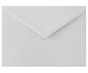 4 BAR Envelopes (3 5/8 x 5 1/8) 100% Cotton - Gray 80lbs Moistenable Glue