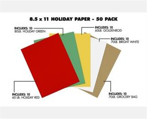8 1/2 x 11 Paper  50 Pack Assorted
