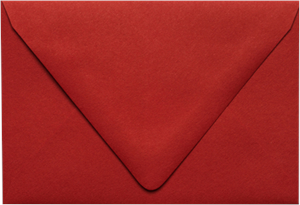 A6 Contour Flap (4 3/4 x 6 1/2) Ruby Red 80lbs Moistenable Glue