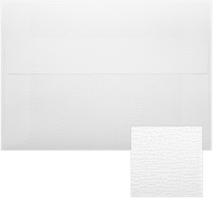 A4 ( 4 1/4 x 6 1/4) Envelopes White Canvas, White Groove & White Pique Peel & Press 80lbs