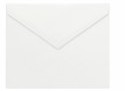 Large White Envelope (5 3/4 x 8) Premium Vellum Pointed Flap