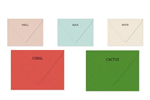 Extract  A-2 (4 3/8 x 5 3/4) -Euro Flap Envelopes 88# pick from 5 colors