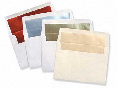 A9 White FOIL LINED Envelopes 60#