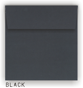 Square Envelopes - MIDNIGHT BLACK - 8.5 in SQUARE Envelopes 80# PEEL & PRESS