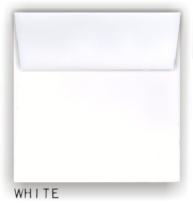 Cougar  SQUARE Envelopes - WHITE & NATURAL - 8.5 in Square Envelopes Vellum Finish