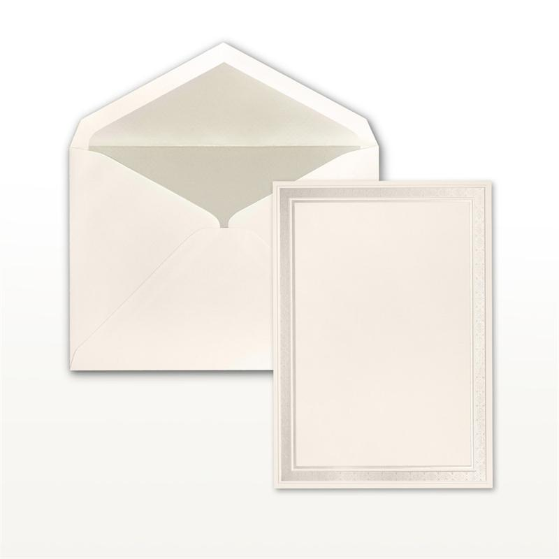 pearl multistamped embossed border natural cabinet of 50