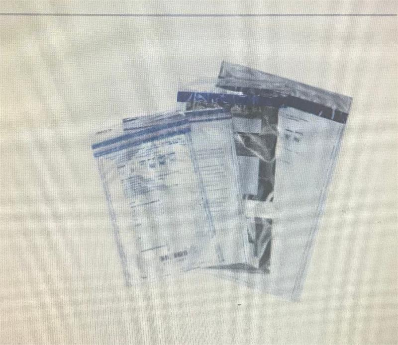 Clear Single Pocket Security Deposit Bag with Unique Serial Numbers