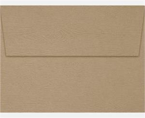 A6 Invitation Envelopes (4.75 x 6.5) LUXPaper Oak Woodgrain 68lbs peel and press