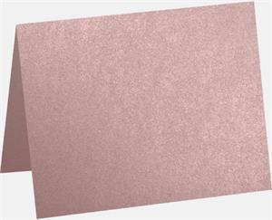A6 Folded Card 4.63 x 6.25 Misty Rose Metallic - Sirio Pearl 111lbs