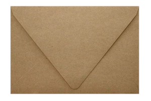 A1 Contour Flap (3 5/8 x 5 1/8) Recycled Envelopes Grocery Bag  70lbs Moistenable Glue