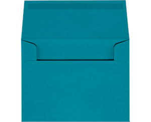 A2 Invitation Envelopes 4.375 x 5.75 Bright Blue Moistenable Glue 60lbs