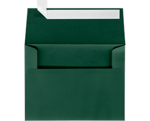 A6 Invitation Envelopes LUXPaper — Green Linen Peel & Press™ 80lbs