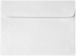 Booklet Envelopes - 24lb BRIGHT WHITE - (5.5 x 7.5) Moistenable Glue