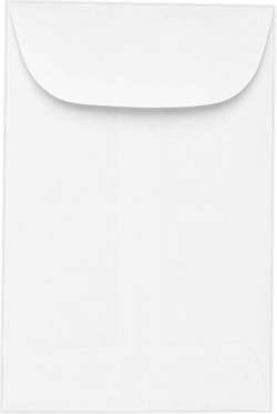 Coin envelopes #3  Bright White 24#  Moistenable Glue 2 1/2 x 4 1/4