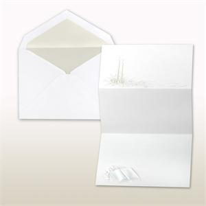Pearl Stamped Candles And Bible Fan Fold Cabinet of 50 Invitations sets