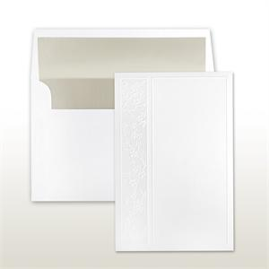 Stamped And Embossed Cherry Blossoms On Extra Large Card Cabinet of 50 Invitations Sets
